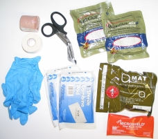 Combat Gunshot Wound/Trauma Kit Contents